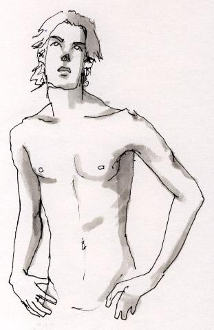 Drawn figurine pencil full body Life life drawing Quick Nina