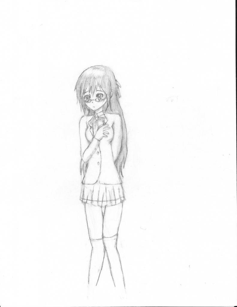 Drawn figurine pencil full body Body Anime Body Drawing To