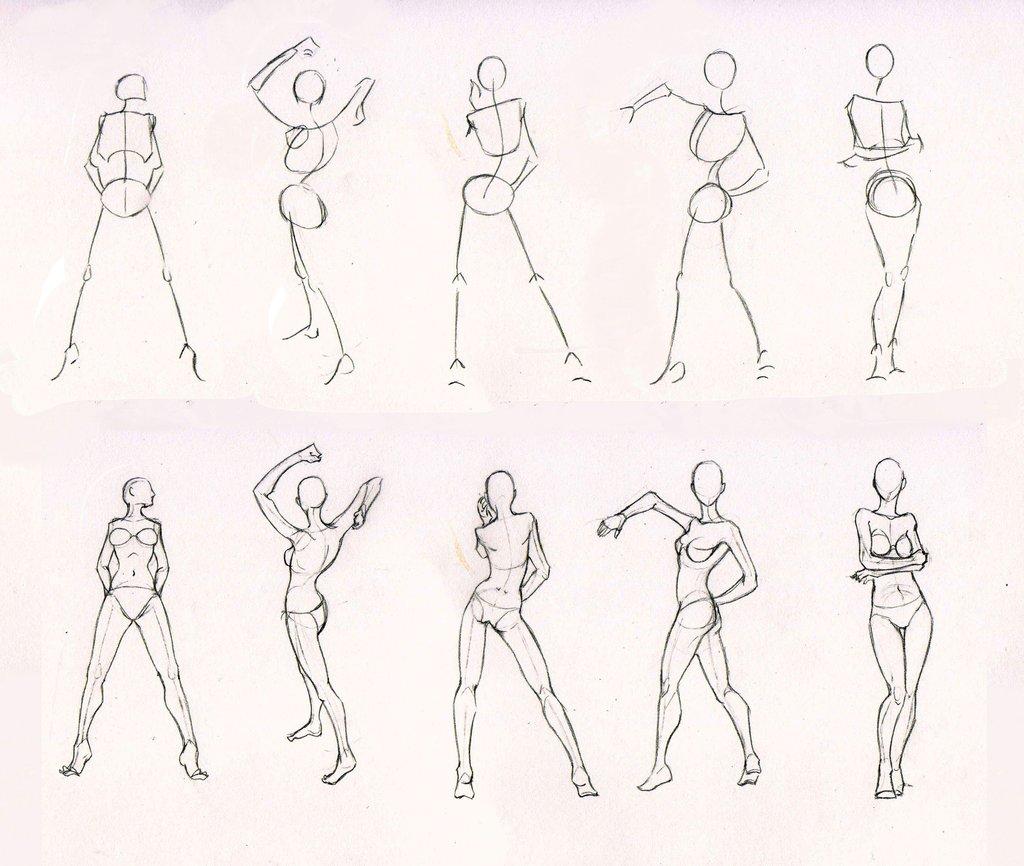 Drawn figurine practice Com deviantart practice by standing