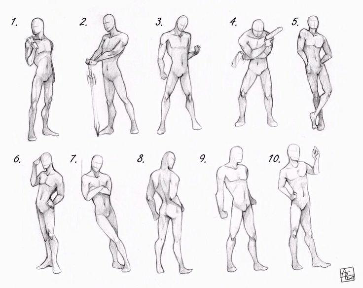 Drawn figurine practice Men's 64 Anatomy best images