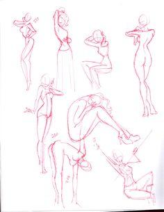 Drawn figurine practice Human different deviantart 2 by