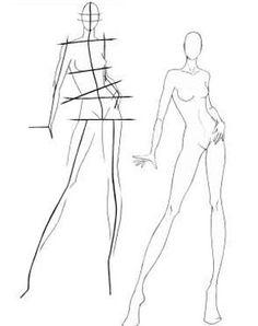 Drawn figurine sketch model London Figures to draw a