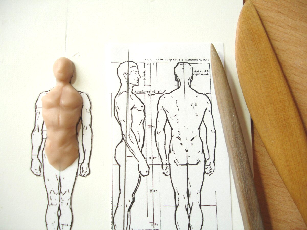 Drawn figurine sticky Modelling _1 with davidneat on