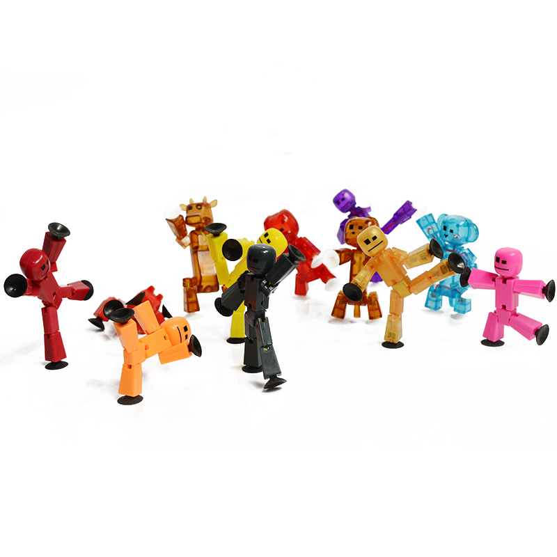 Drawn figurine sticky Robot Funny 10pc/lot Sucker Robot
