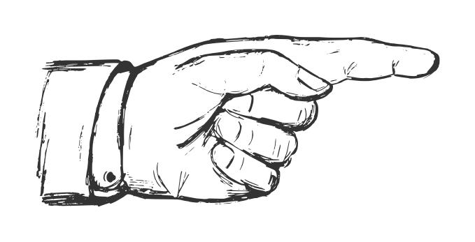 Drawn finger PNG) pointing (EPS finger Drawn