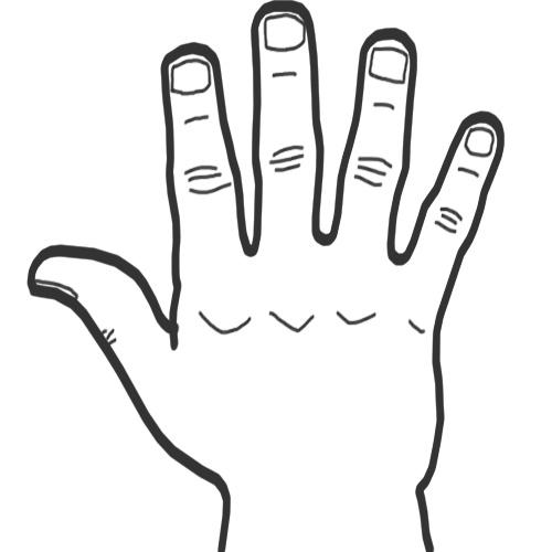 Drawn finger #6