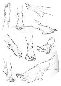 Drawn finger thigh 2 Sketchbook by feet Feet