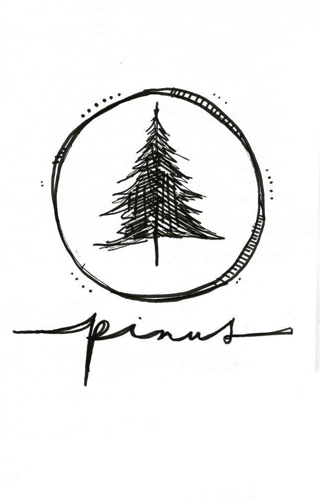 Drawn fir tree simple Duende Drawn Pinterest Hand Best