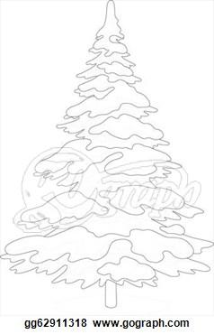 Drawn fir tree simple  tree Christmas Drawing fir