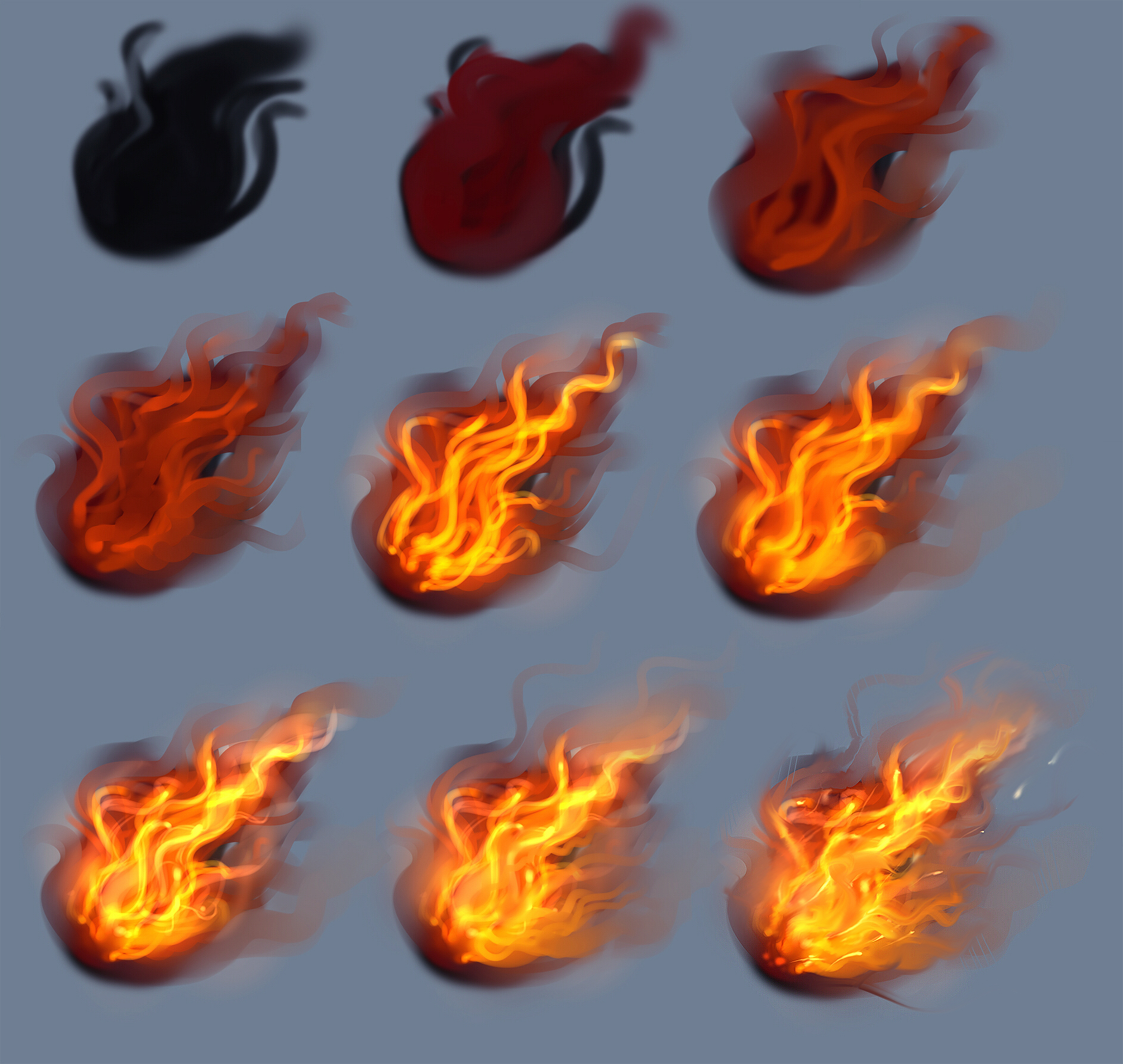 Drawn fire Tutorial Fire tutorial by by