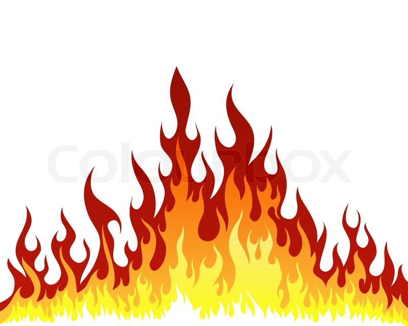 Drawn fire Stock background Get vector vector