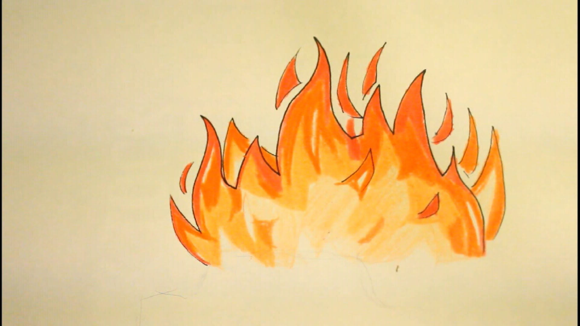 Drawn fire Draw For How Flames Easy