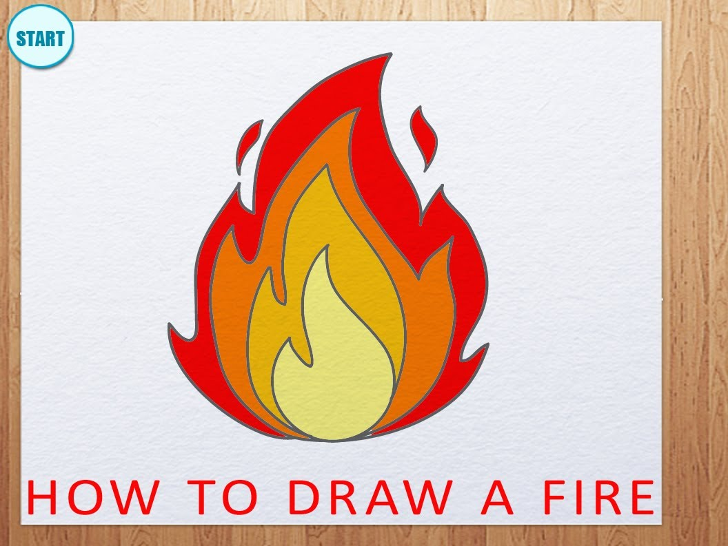 Drawn flame Draw Flame a Fire