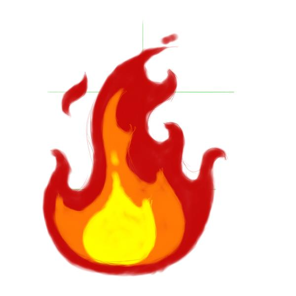 Flames clipart comic  draw step Flames submit
