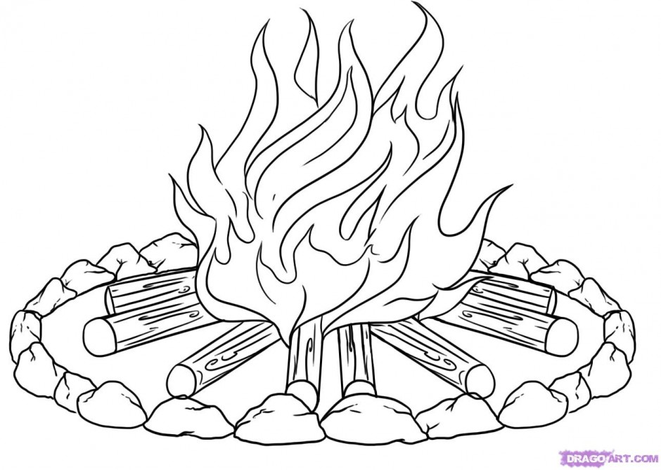Drawn campfire  Pages Campfire Campfire 246759
