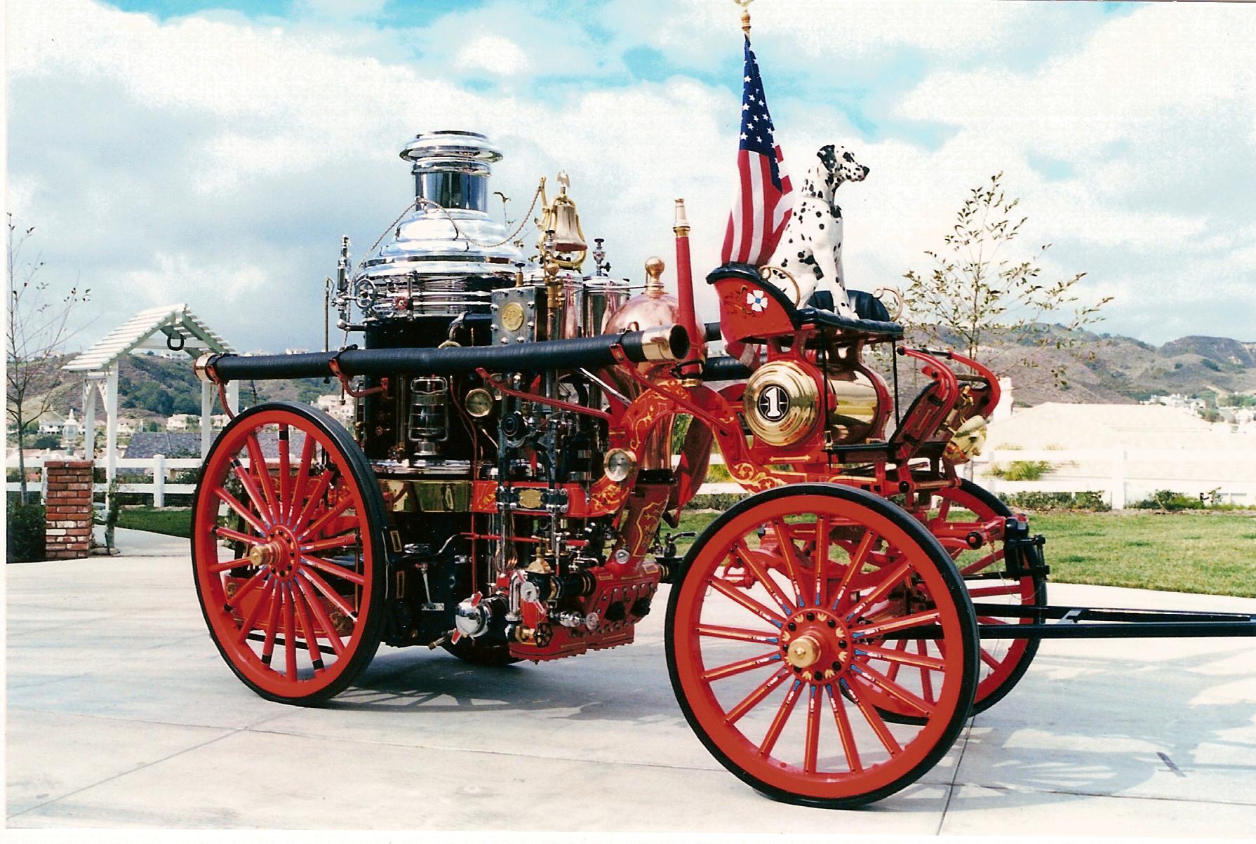 Drawn truck american truck Engine Steam 1902  drawn