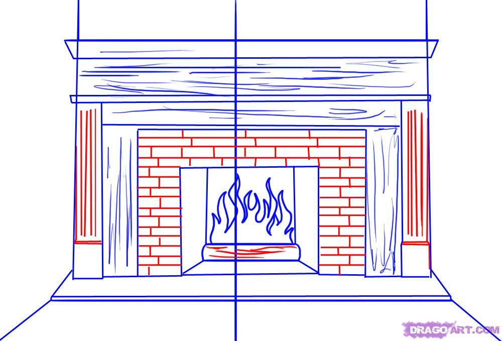 Drawn fireplace To 5 Fireplace Draw draw