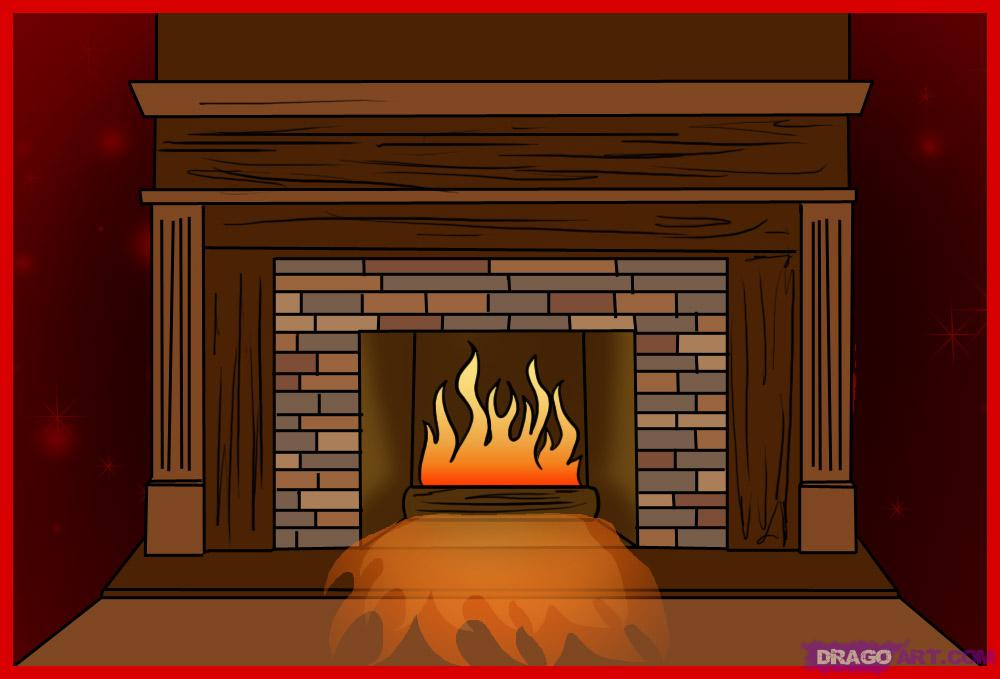 Fireplace clipart drawn How FREE Culture Fireplace Step
