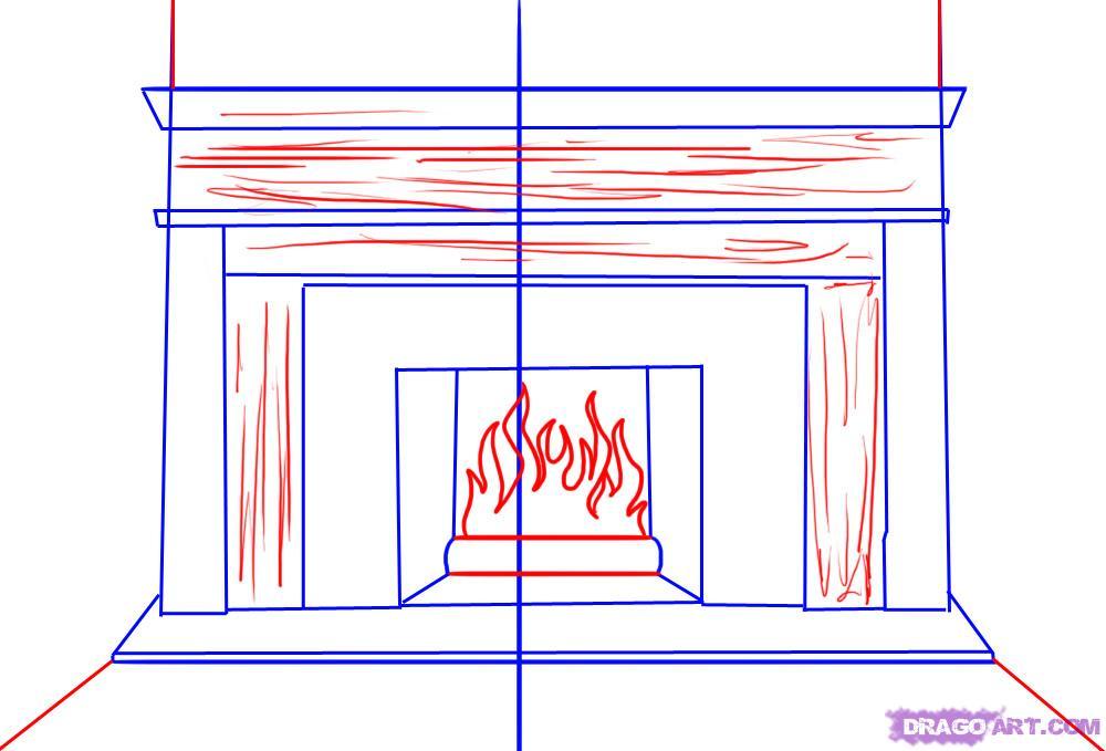 Drawn fireplace To 4 Fireplace Draw draw