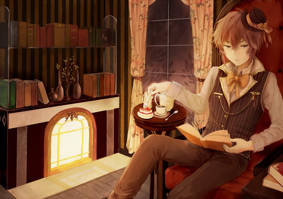Drawn fireplace Anime beautiful DeviantArt looking I