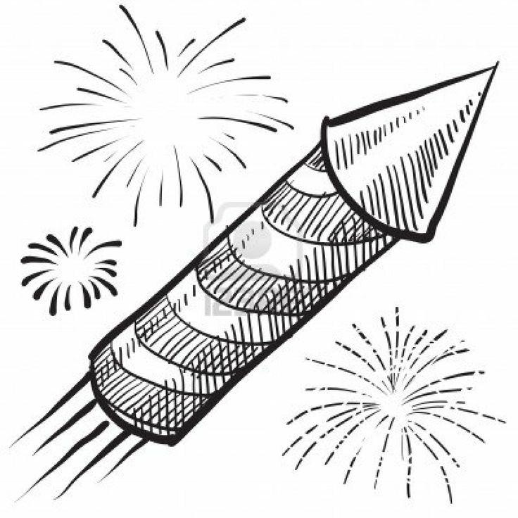 Drawn fireworks Art Pencil Images Realistic Fireworks