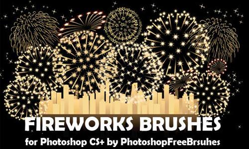 Drawn fireworks psd #13