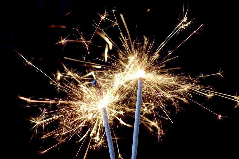 Drawn fireworks sparkler #15