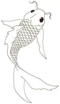 Drawn painting fish And Fish Koi Fish Fish