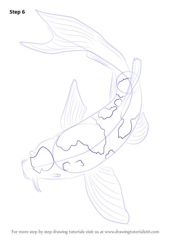 Drawn fishing school Koi to ideas on Step