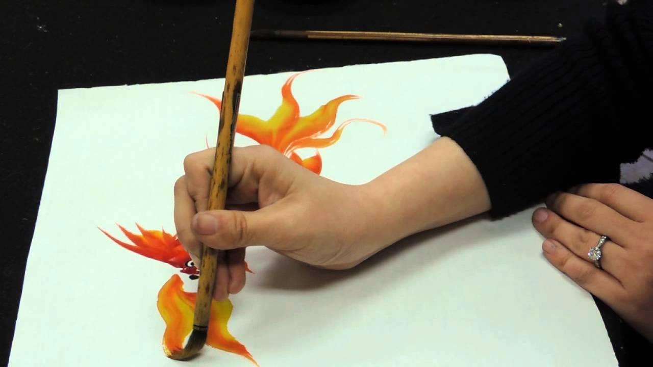 Drawn gold fish chinese  fish Chinese YouTube gold