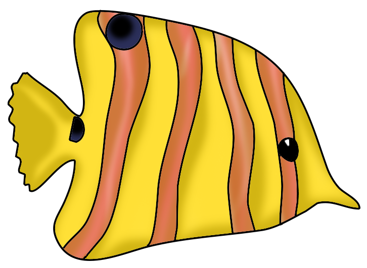 Tropical Fish clipart butterfly fish #1