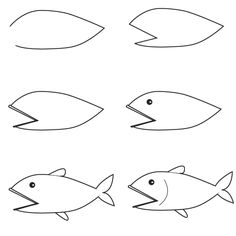Drawn gold fish kid Draw learn Resimleri More how