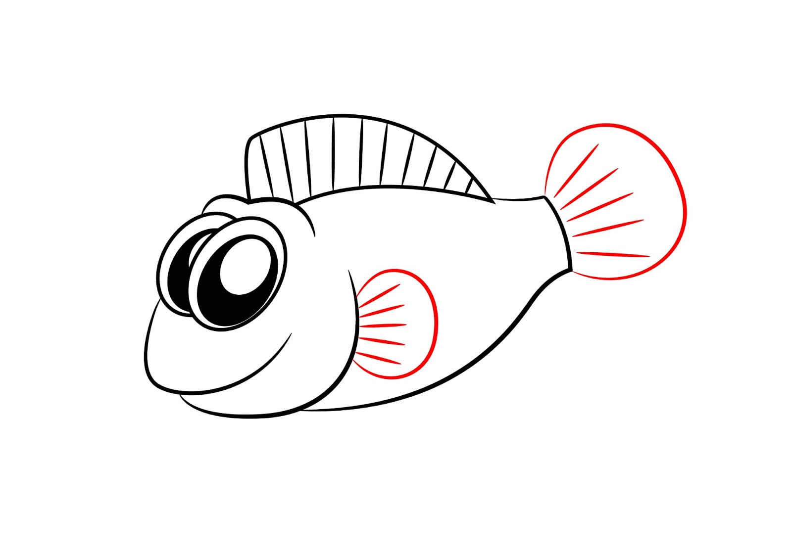 Fins clipart fish drawing Photo#5 A By by Cartoon
