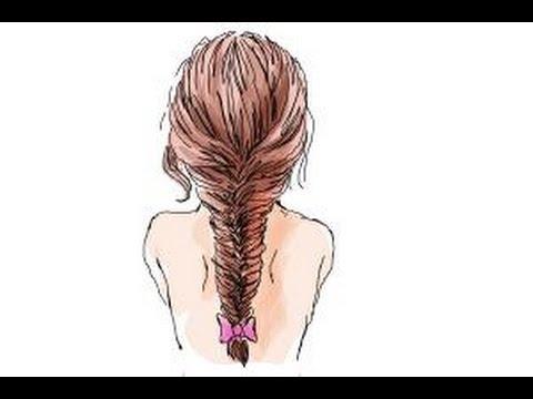 Drawn braid fishtail braid A How braid a to