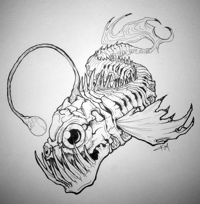 Drawn skeleton abstract Fish Fish  ideas Best