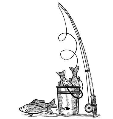 Drawn fishing Fishing Black Fishing fishes Fishing