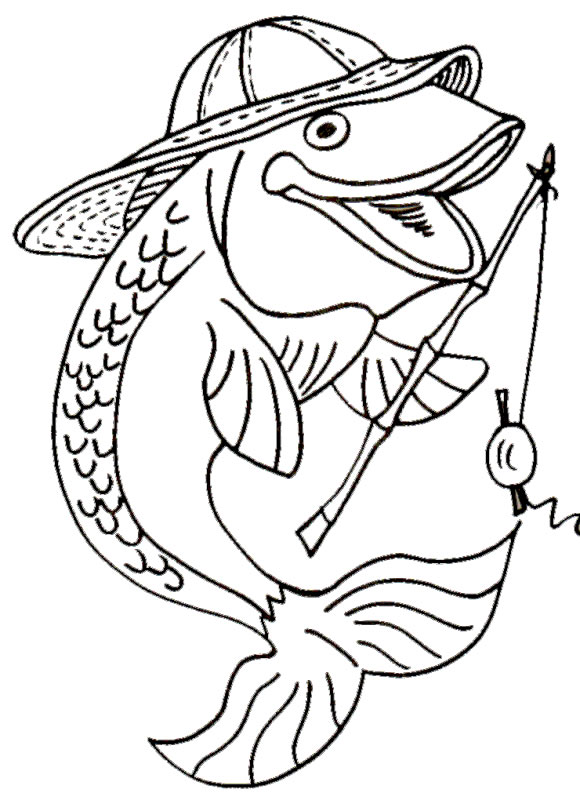 Drawn fishing school Fish  Pictures Colour to