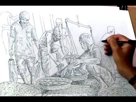 Drawn fishing market Drawing market