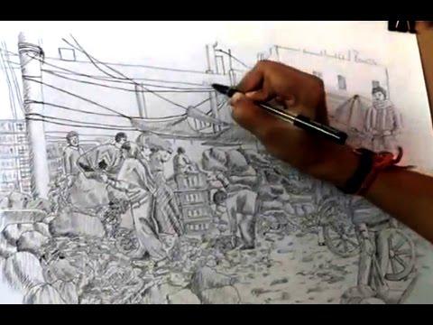 Drawn fishing market Pen to draw  Pen