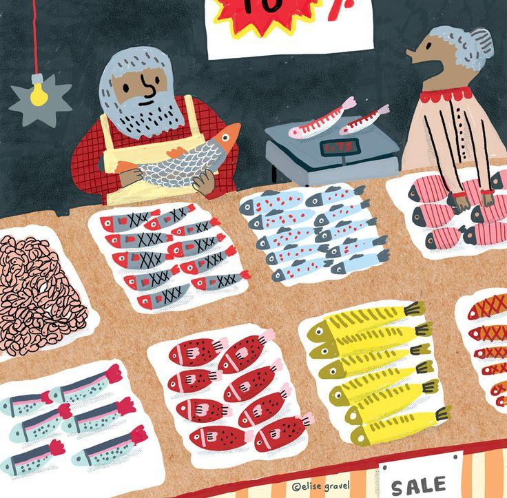 Drawn fishing market Illustrations Animal Fish illustration illustration