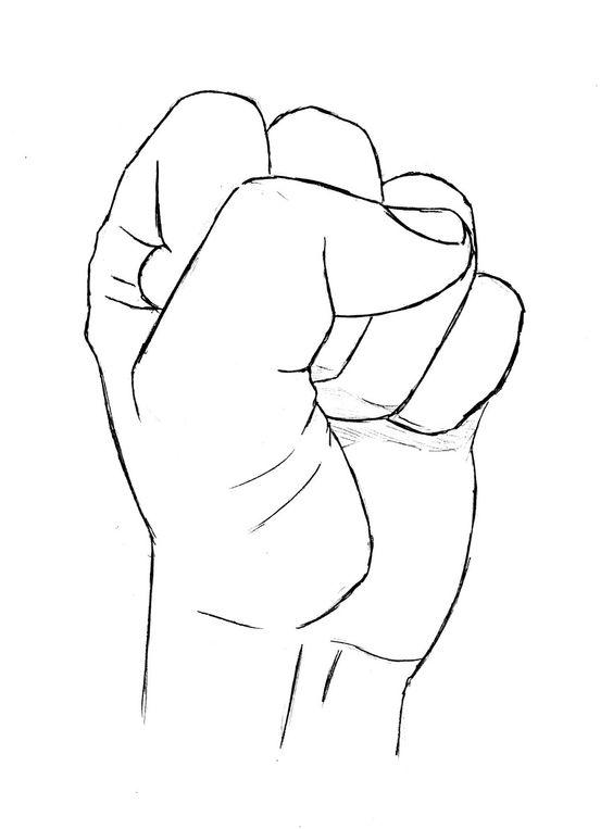 Drawn fist De fist
