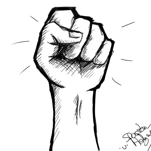 Drawn fist Drawing How fist Drawing a