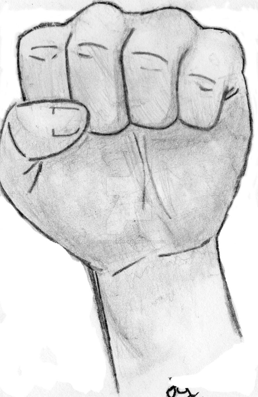 Drawn fist Drawing by Fist Fist Drawing