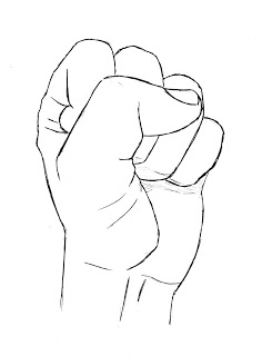 Drawn fist Hand to draw Lessons Drawing