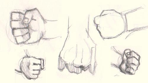 Drawn fist How 5  fist to