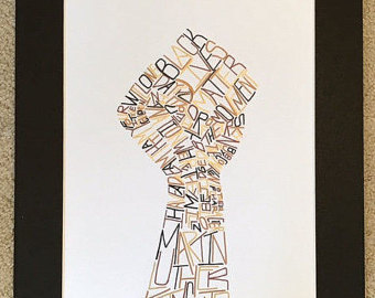 Drawn fist black history Lives Martin Black Luther Word