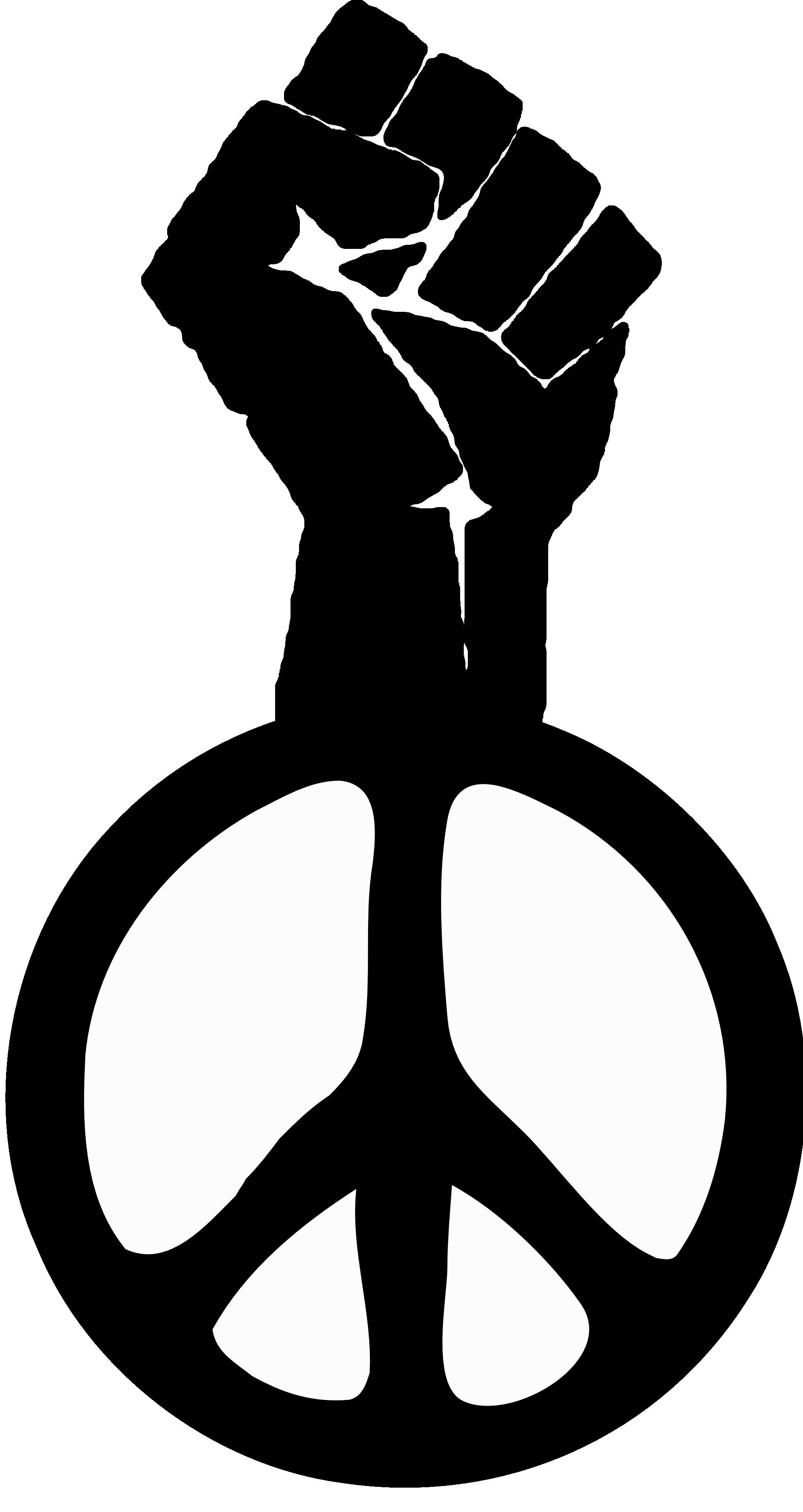 Fist clipart unity  Power Clipart Black