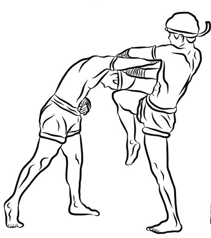 Drawn fist effective Thai Clinch at Moves glance