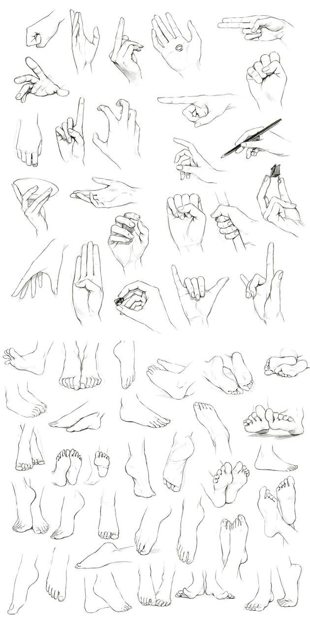 Drawn fist hand and foot And 74 images and Feet