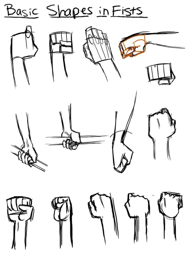 Drawn fist hand and foot And best on and 33